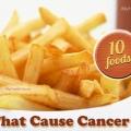 10 cancérigènes plupart des aliments malsains pour éviter
