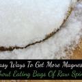 5 trucs faciles pour ajouter plus de magnésium sans manger des sacs de épinards crus