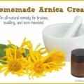 Une recette naturelle de la crème d'arnica ecchymose maison