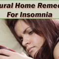 Meilleurs remèdes naturels pour l'insomnie