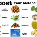 Les aliments qui aident à stimuler le métabolisme