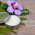 Crème nourrissante pour les cheveux maison, style naturel