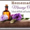 Homemade huile de massage aux herbes infusées