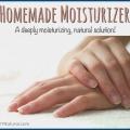 Hydratant maison pour la réparation naturelle de la main