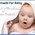 Des alternatives naturelles aux produits de soins pour bébés commune