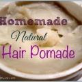 Natural pommade de cheveux non grasse et de texturation