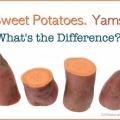 Les pommes de terre douces et les ignames, est-il une différence?