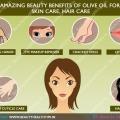 Avantages de beauté étonnants d'huile d'olive pour les soins de la peau, les soins capillaires