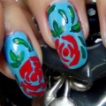 Belle Rouge et ongles vert Tutoriel Art avec des étapes détaillées