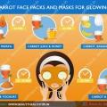 Meilleures masques pour le visage de la carotte et masques pour le visage rougeoyant