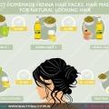 Meilleurs packs de cheveux de henné maison, masques capillaires pour les cheveux d'apparence naturelle