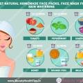 Meilleures masques de beauté naturels faits maison, masque de visage pour blanchir la peau