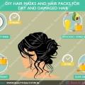 Masques de cheveux bricolage et des packs de cheveux pour les cheveux secs et abîmés