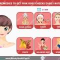 Remèdes à la maison pour obtenir des joues roses roses facilement naturellement