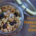 Citrouille maison épices granola recette