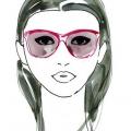 Comment choisir des lunettes de soleil pour le visage de forme triangulaire?