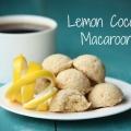 Lemon macarons de noix de coco