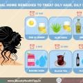Naturel remèdes maison pour traiter les cheveux gras, cuir chevelu gras