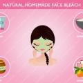 Naturelles recettes maison de blanchiment du visage pour le visage