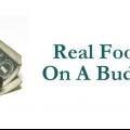 De vrais aliments sur un budget