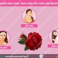 Rose entretien de l'eau de la peau, soins capillaires, soins de la vue et les soins de beauté