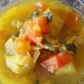 Coquille Saint-Jacques et le safran de la soupe