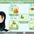 Masques capillaires maison simples, des packs de cheveux pour une bonne cheveux à la recherche