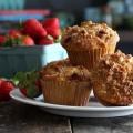 Muffins fraises streusel (sans grain)