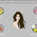 Top remèdes naturels pour se débarrasser de gris, les cheveux blancs