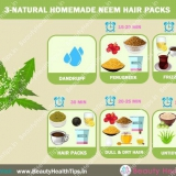 3-naturelles packs de cheveux de neem maison