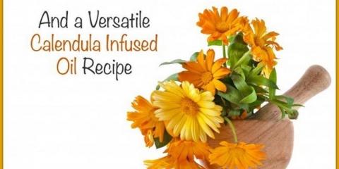 Calendula utilise et une huile de calendula maison infusé