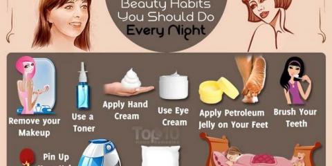10 habitudes de beauté que vous devriez faire tous les soirs