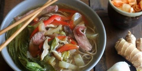 Boeuf soupe de nouilles asiatique recette