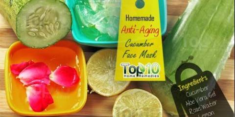 Bricolage maison anti-vieillissement masque de concombre