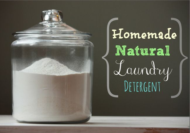 Homemade blanchisserie détergent naturel Made Easy