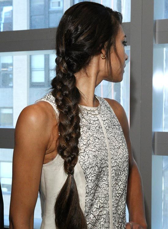Long Thick-Quatre-Strand-Braid-avec-Curly-End