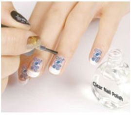 ongles applique Top coat