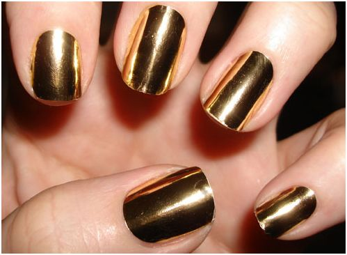 Metallic Gold Nail Polish